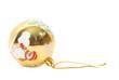 tarjeta de navidad bola dorada fondo blanco