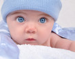 Little Baby Blue Boy with Hat