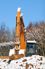 Digger in snow