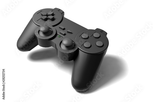 gamepad on white background