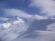 Winterlandschaft mit Schispuren