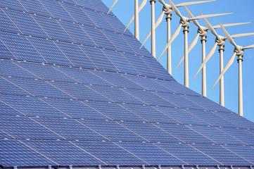 Photovoltaikanlage und Windenergie