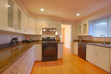 Evening kitchen, new remodeled