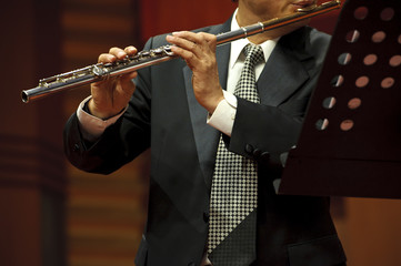 flutist on concert