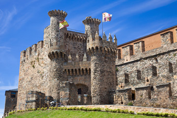 Gate of the Templar castle of Ponferrada, Leon, Spain