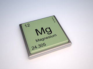 Magnesium chemical element of the periodic table with symbol Mg