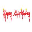 Happy Birthday Candle Word