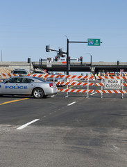 Road Closed Barricade