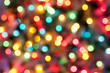 Leinwandbild Motiv Color Christmas abstract lights