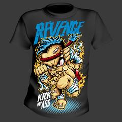 T-Shirt Print Comic style