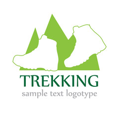 Logo mountain trekking ( vector)
