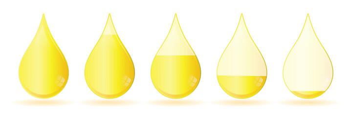 icone de niveau d'encre jaune