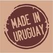 Uruguay rubber stamp