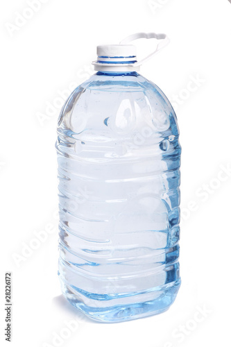 big bottle water on white background