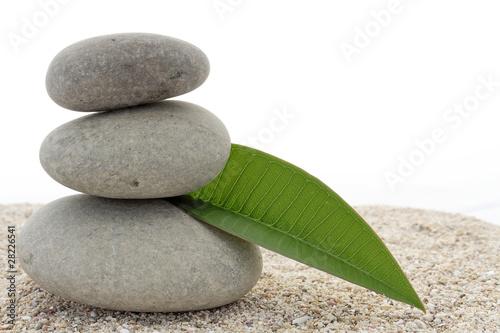 Papiers peints Zen pierres a sable décoration zen
