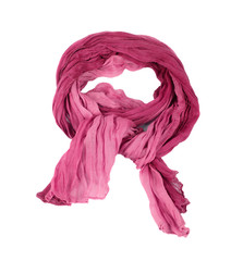 Pink cotton scarf isolated on a background