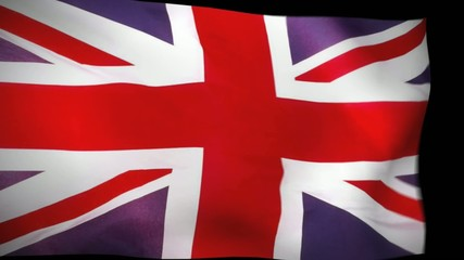 Britain waving Flag Wiper & luma