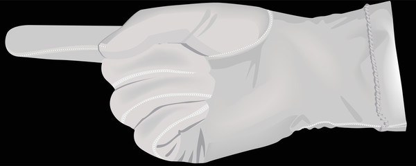 Hand in a white glove