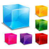 Fototapety colorful cubic vector background