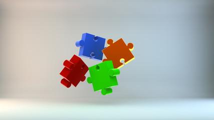 Puzzleteile Zusammensetzung