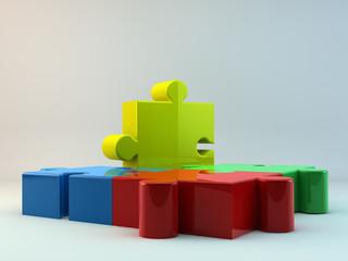 Puzzle liegend
