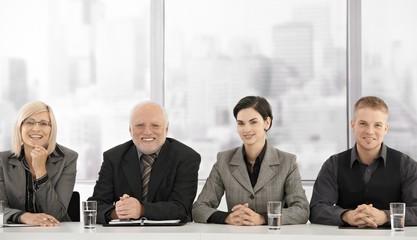 Formal businessteam portrait of generations