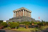 Ho Chi Minh Mausoleum in Hanoi, Vietnam. poster