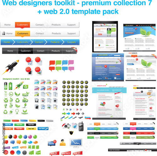 Premium collection 7 + web template pack