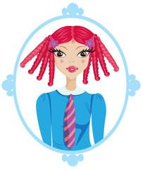 redhead schoolgirl portrait
