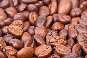 зерна кофе крупным планом