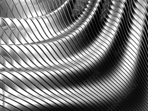 Aluminum abstract silver stripe pattern