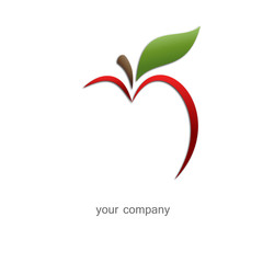 Logo apple. Opportunities for success ( Vector)