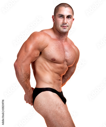 The Perfect  muscular man posing