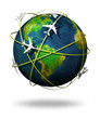 air travel around the globe