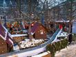 Manège pour enfants au marché de Noël