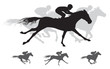 Horse race vector Silhouettes