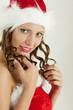 portrait of female Santa Claus