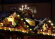 Illuminations et décorations des cabanons du marché de Noël