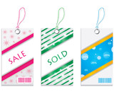 colored price tags poster