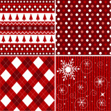 Fototapety seamless patterns with fabric texture, christmas texture