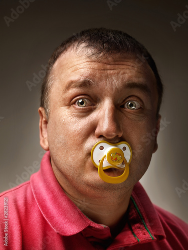 Adult Man with Pacifier