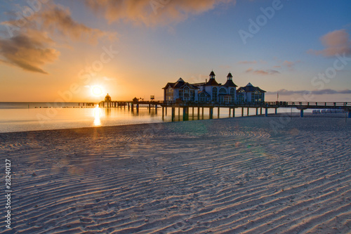 Sunrise at the baltic sea