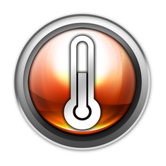 "Glossy Orb Button ""Temperature / Thermometer"""