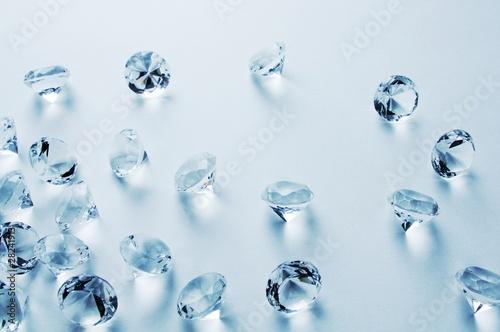 Leinwanddruck Bild Blue Diamonds