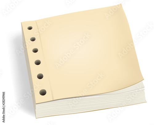 Vector bundle of paper with holes or ledger