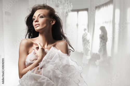 Beautiful woman in stylish interior