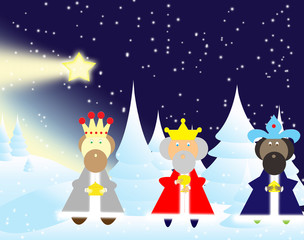 three kings bearing gifts for the glow
