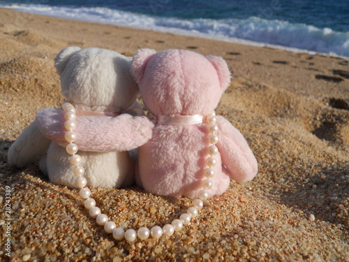 teddy bears and pearls