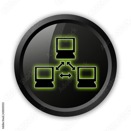 "Black Icon (Green Outlines) ""Network"""