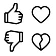 Like and unlike icons